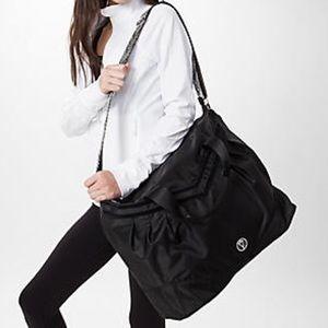"""Lululemon """"Take Me to Studio"""" nylon gym bag"""